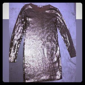 Micheal Kors Gold Sequence short dress